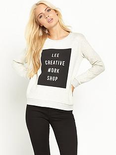 lee-logo-crew-sweat-top
