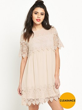 miss-selfridge-lace-trim-smock-dress