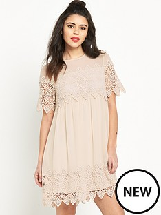 miss-selfridge-miss-selfridge-lace-trim-smock-dress