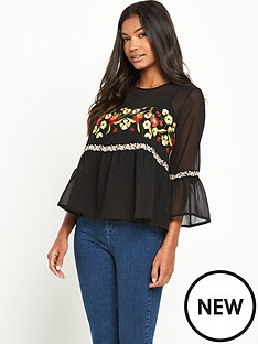 miss-selfridge-embroidered-gypsy-top