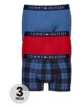 Tommy Hilfiger 3pk check/plain trunk
