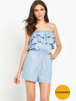 miss-selfridge-bandeau-frill-detail-playsuit