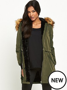 miss-selfridge-parka-coat-with-fauxnbspfur-hood