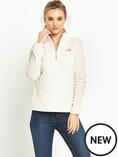the-north-face-100-glacier-14-zip-white
