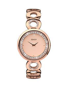 seksy-seksy-rose-dial-crystal-bezel-ladies-watch