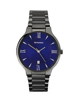 sekonda-sekonda-blue-dial-black-steel-bracelet-mens-watch