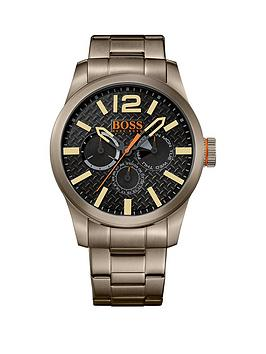 hugo-boss-hugo-boss-paris-black-matte-dial-khaki-case-khaki-bracelet-mens-watch