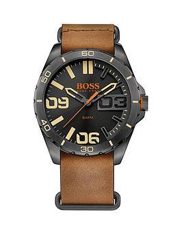 hugo-boss-hugo-boss-berlin-black-matte-sunray-dial-brown-leather-nato-strap-mens-watch