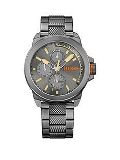 hugo-boss-hugo-boss-new-york-grey-matte-sunray-dial-chronograph-knurling-centre-link-bracelet-mens-watch