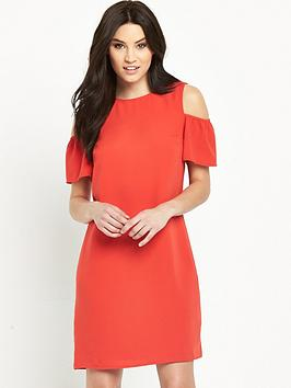 oasis-crepe-frill-shift-dress