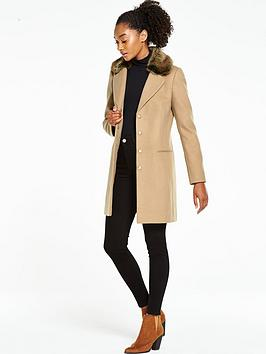 oasis-formal-faux-fur-collar-coat-oatmeal