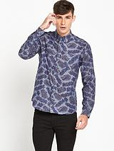 Pretty Green Estonfield Long Sleeve Printed Shirt