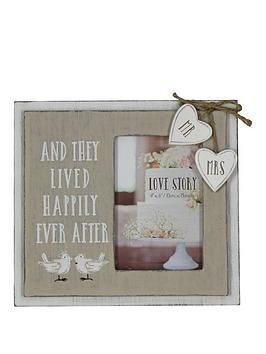 Very Happily Ever After Wooden Photo Frame Picture