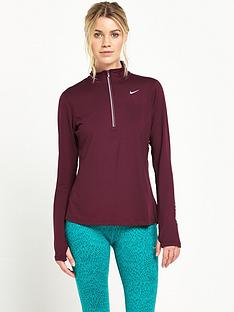nike-dry-element-12-zip-running-top-maroon