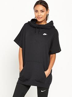 nike-short-sleeved-hoodie-black