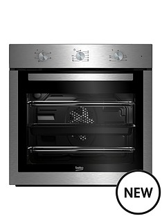 beko-bif16100x-60cm-built-in-electric-single-oven-with-optional-connection-stainless-steel
