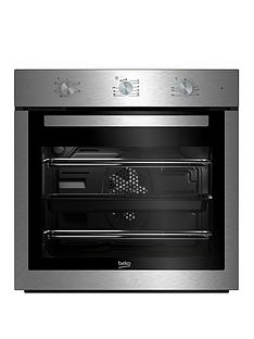 beko-bif16100x-60cm-ecosmart-single-fan-oven-with-optional-connection-stainless-steel