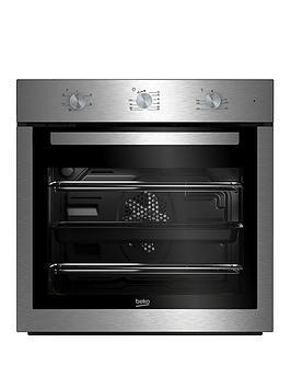 beko-bif16100x-60cm-ecosmart-single-fan-oven-with-optional-connection-stainless-steel