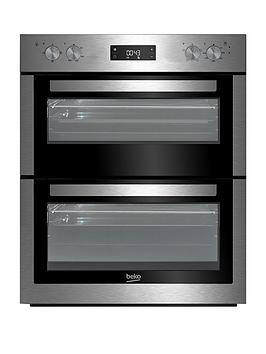 beko-btf26300x-60cm-built-under-electric-double-oven-with-optional-connection-stainless-steel
