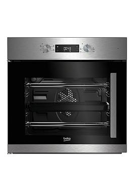 beko-bif22300xl-60cm-built-in-electric-single-oven-with-optional-connection-stainless-steel