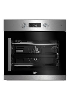 beko-bif22300xr-60cm-built-in-electric-single-oven-with-optional-connection-stainless-steel