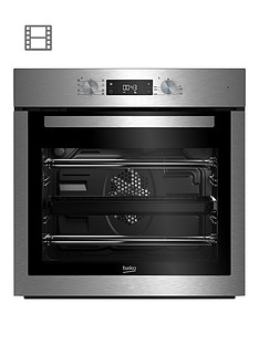 beko-bim16300xc-60cm-built-in-electric-single-oven-with-optional-connection-stainless-steel
