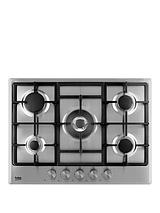 HCMW75225SX 70cm Built-in Gas Hob with Optional Connection - Stainless Steel