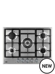 beko-hcmw75225sx-70cm-built-in-gas-hob-with-optional-connection-stainless-steel
