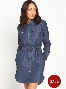 french-connection-denim-tencel-western-shirt-dressnbsp