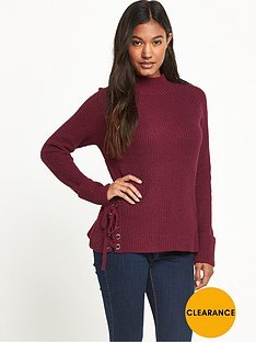 french-connection-freedom-fringe-knits-zinfandel