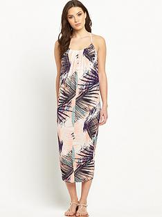 v-by-very-palm-print-cocoon-jersey-dress