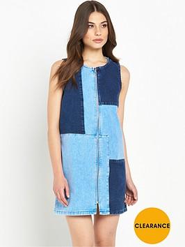 river-island-denim-patchwork-dress