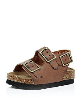 river-island-mini-mini-boys-comfort-bed-buckle-sandals