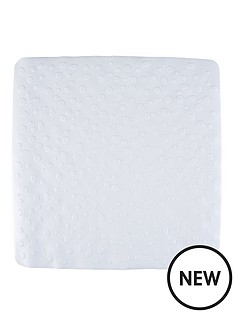 aqualona-contemporary-white-shower-mat