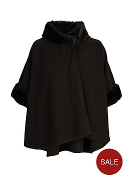 v-by-very-girls-fleece-faux-fur-trim-cape