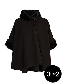 v-by-very-girls-fleece-faux-fur-trim-cape