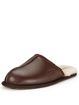 ugg-scuff-leather-slippers