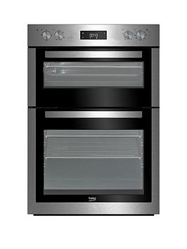 Beko Bdf26300X 60Cm BuiltIn Double Electric Oven With Connection  Stainless Steel  Oven With Connection