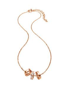 folli-follie-touch-rose-gold-plated-crystal-set-link-necklace