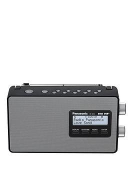 Panasonic RfD10EbK Dab &Amp Dab Compatible Radio  Black