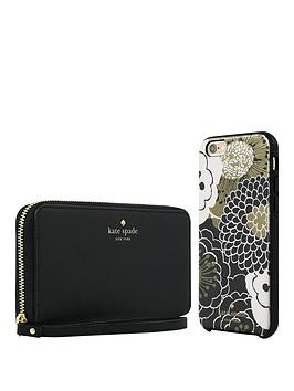 kate-spade-new-york-gift-set-zip-wristlet-black-amp-festive-floral-hardshell-case-for-iphone-66s
