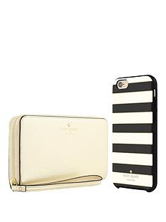 kate-spade-new-york-gift-set-zip-wristlet-rose-gold-amp-candy-stripe-hardshell-case-for-iphone-66s
