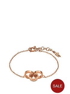folli-follie-touch-rose-gold-plated-crystal-set-link-bracelet