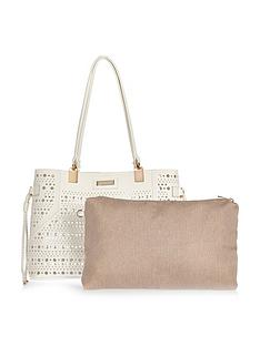 river-island-laser-cut-detail-beach-bag