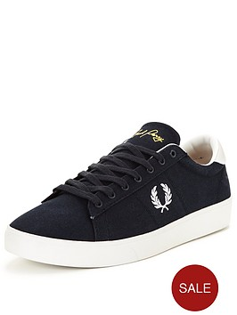 fred-perry-spencer-canvas-trainer-navy