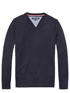 tommy-hilfiger-vee-neck-sweater-midnight