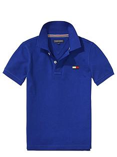 tommy-hilfiger-ss-big-flag-polo-blue