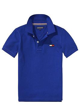 tommy-hilfiger-ss-big-flag-polo-blue