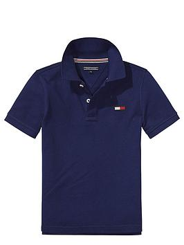 tommy-hilfiger-ss-big-flag-polo-navy