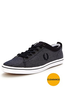 fred-perry-hallam-chambray-plimsolls